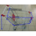 Trolley Supermarket 60 Liter